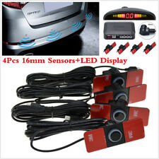 4pcs 16 mm Parking Sensors Car Reverse Backup Rear Radar System Kit+LED Display