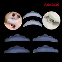 3 Pairs Silicone Eyelash Lift Curlers Silicone Eye Lash Extension Shields PadZJA