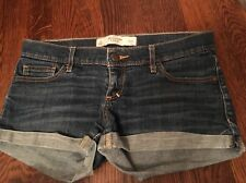 Juniors Women's American Eagle Blue Jean Stretch Short Shorts Size 2
