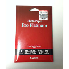 "GENUINE Canon PT-101 Platinum Series 4R 4"" x 6"" Photo Paper Pro (20 Sheets)"
