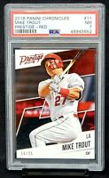 2018 Prestige RED Angels MIKE TROUT Baseball Card /25 PSA 7 NM - Total PSA Pop 1