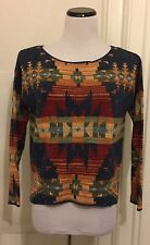Ralph Lauren Denim & Supply Sweater Top Southwestern Size XS