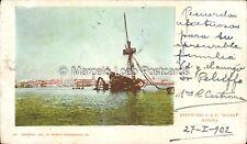 CUBA HABANA RESTOS DEL U.S.S.  395 MAINE 1902