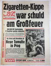 B.Z. (21.8.1969): Neue Tumulte in Prag