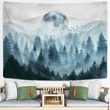 Misty Forest Tapestry Wall Hanging The Moon and Mountain Tapestries Home Decor