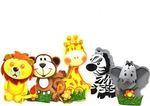 Baby Shower Favors-Jungle Mix 3D Foam Safari Theme Decor. M-S