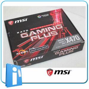 Placa base ATX Ryzen 3000 MSI X470 GAMING PLUS Socket AM4 con Accesorios
