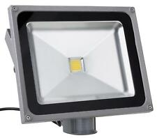LED Aussen Fluter Flutlicht Strahler Bewegungsmelder Outdoor Wasserdicht 50W