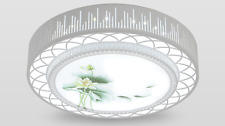 Water Lotus LED Ceiling Light Modern Home Fixture Flush Mount Lighting Dimmable