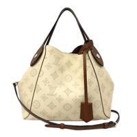 LOUIS VUITTON Hina PM 2way shoulder hand bag M51950 Mahina leather Creme Used LV