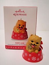 Hallmark Series Ornament 2016 Puppy Love #26 Pomeranian Pup NEW
