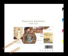 Bloc 4 timbres FERNAND KHNOPFF peintre Belgique planche 2004 artiste Belges NEUF