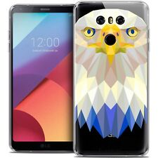 Coque Housse Etui Pour LG G6 Polygon Animal Souple Fin Aigle