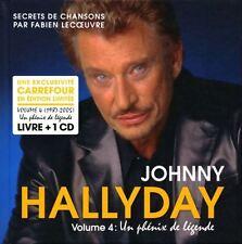 JOHNNY HALLYDAY - UN PHENIX DE LEGENDE - VOL.4 - 1 CD + LIVRE NEUF SOUS BLISTER