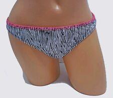 Kenneth Cole NEW Black White Women's L Large M 10 12 Swimsuit Bikini Bottom 1616
