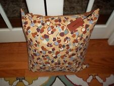 NWT Missoni Maggie Beige/Brown/Blue Flowers 24x24 Decorative Pillow Cushion