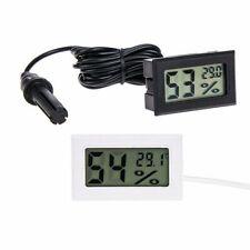 Digital Lcd Embedded Thermometer Hygrometer Reptile Vivarium Snake Lizard Black
