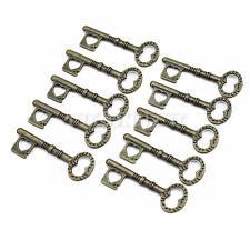 10pcs Vintage Schlüssel Anhänger bronze Schmuck Basteln  DIY Charms Steampunk