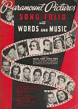 PARAMOUNT PICTURES 1937 SONG FOLIO,WITH PIX OF BING,COOPER, LOMBARD,COLBERT,ETC