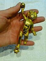 Antique French Gilt Brass Cherub Putti Putto -Clock Candelabra Mirror Furniture