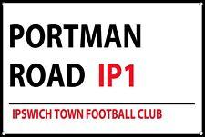 Ipswich Town Plaque De Rue En Métal Football Équipes Mur Porte Signe Plaque 1114