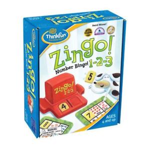 Thinkfun Zingo 1 2 3 Number Bingo Board Game NEW