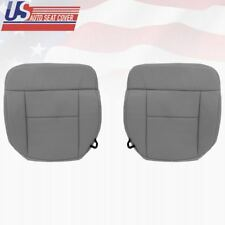 2008 Ford F150 Lariat Driver & Passenger Side Bottom Cloth Seat Cover FLINT GRAY