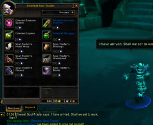 Ethereal soul-trader pet from world of warcraft pc game