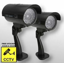 2 x High Quality Outdoor Dummy Security Camera Fake LED Light CCTV