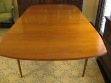"""Drexel 84"""" Mid-Century Modern Drop-Leaf Extension Dining Room Table/Cover Danish"""