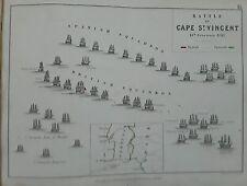 Portogallo BATTAGLIA CAPO SAN VINCENZO 1797, ALLISON'S AK Johnston Militare pub1848 m2
