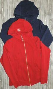 LOT OF 2 Lululemon  Full Zip Hooded Jacket Hoodie Women's size 10