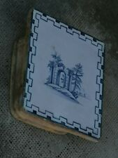 Ancien carreau céramique Delft? 18 siècle? Fourneau pottery