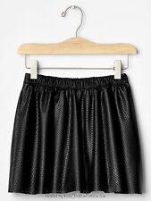 gap toddler girl perforated faux leather flip skirt black NWT size XS 4-5