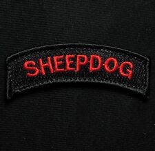 SHEEPDOG TAB US ARMY TACTICAL K9 MORALE USA MILITARY BLACK OPS RED VELCRO PATCH
