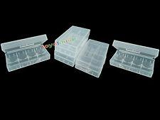 5 x 18650/16340 / CR123A Batería Blanca caso titular caja de almacenamiento