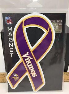 """Minnesota Vikings Team NFL 7"""" Siskiyou Car Locker Ribbon Strong Magnet New"""