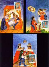 LIECHTENSTEIN, 2003 Weihnachten 1330-32 Maximumkarten, (12087)
