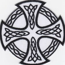 iron on Patches embroidered Patch Celtic Cross Ireland Symbol High Cross -a7f3