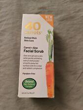 40 Carrots Facial Scrub Carrot and Aloe 3 oz Paraben Free Exfoliating