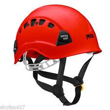Red Petzl Vertex Vent Helmet - Climbing, works at height, rescue helmet.