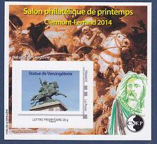 BLOC CNEP N° 65 ** MNH SALON PHILATELIQUE DE PRINTEMPS CLERMONT-FERRAND 2014, TB
