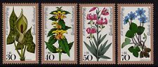 W Germany 1978 Humanitarian Relief Flowers SG 1873-1876 MNH