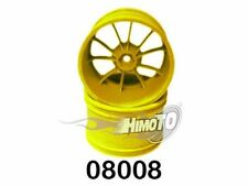 08008 COPPIA DI CERCHI GIALLI 1/10 OFF-ROAD MONSTER TRUCK WHEEL RIM HIMOTO