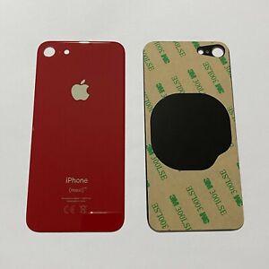 "Apple iPhone 8 4.7"" OEM Akkudeckel Backcover Glas Rückseite Cover Kleber ROT RED"