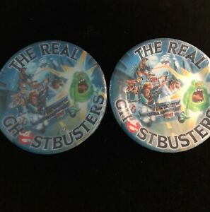 VINTAGE GHOSTBUSTERS PAPER PARTY DESSERT PLATES 2 PACKS, UNOPENED