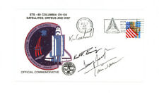 1996 SPACE SHUTTLE COLUMBIA STS-80 crew signed cachet cover FDC + sticker