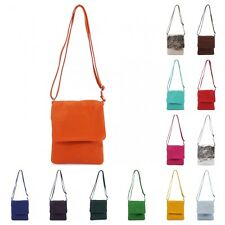 Women Small Genuine Italian Vera Pelle Leather VPZ1 Flap Cross Body Shoulder Bag