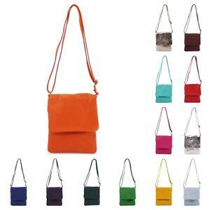 Women Designer Small Genuine Italian Leather Flap Cross Body Mobile Shoulder Bag