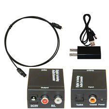 Digital Optic cable Coaxial RCA Toslink Signal to Analog Audio Converter Adapter